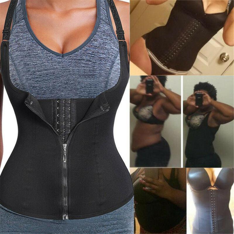 Le donne Corpo Sport Shaper maglia femminile Underbust Shapewear camice delle signore di yoga Top lattice di gomma Vita allenatore sportivo S-3XL