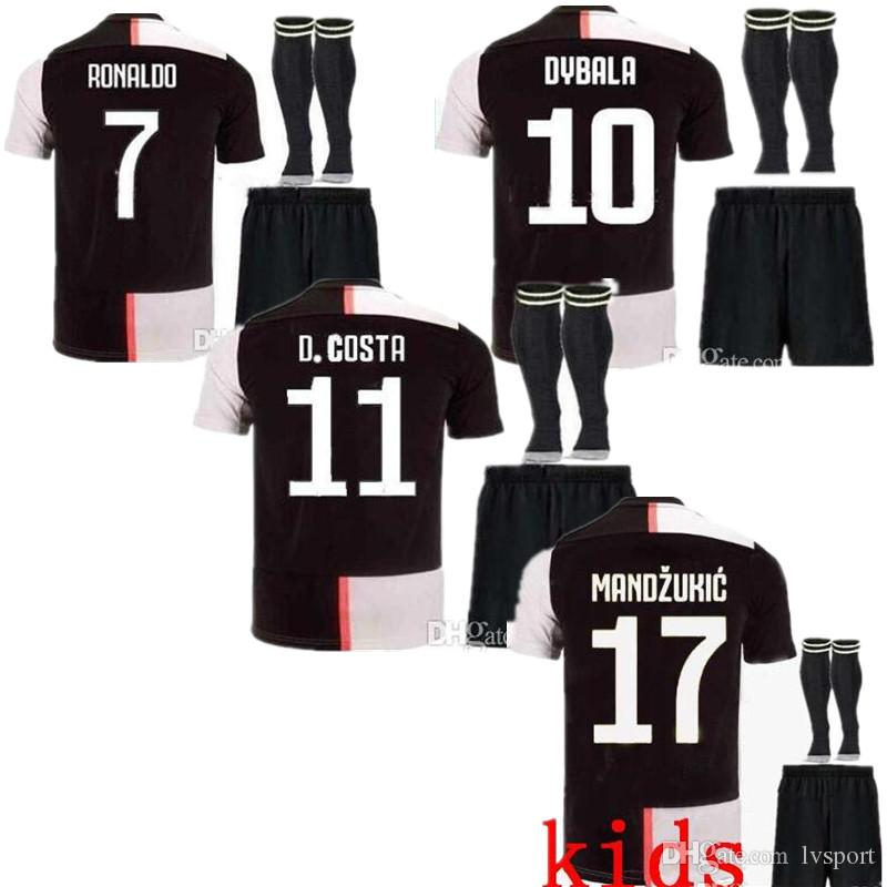 size 40 e50ec 35ee2 2019 New Thailand RONALDO Juventus 2019 2020 Soccer Jerseys Home Boys  DYBALA 19 20 Sports Football Kits PJANIC MATUIDI KIDS Sets JUVE Shirts From  ...
