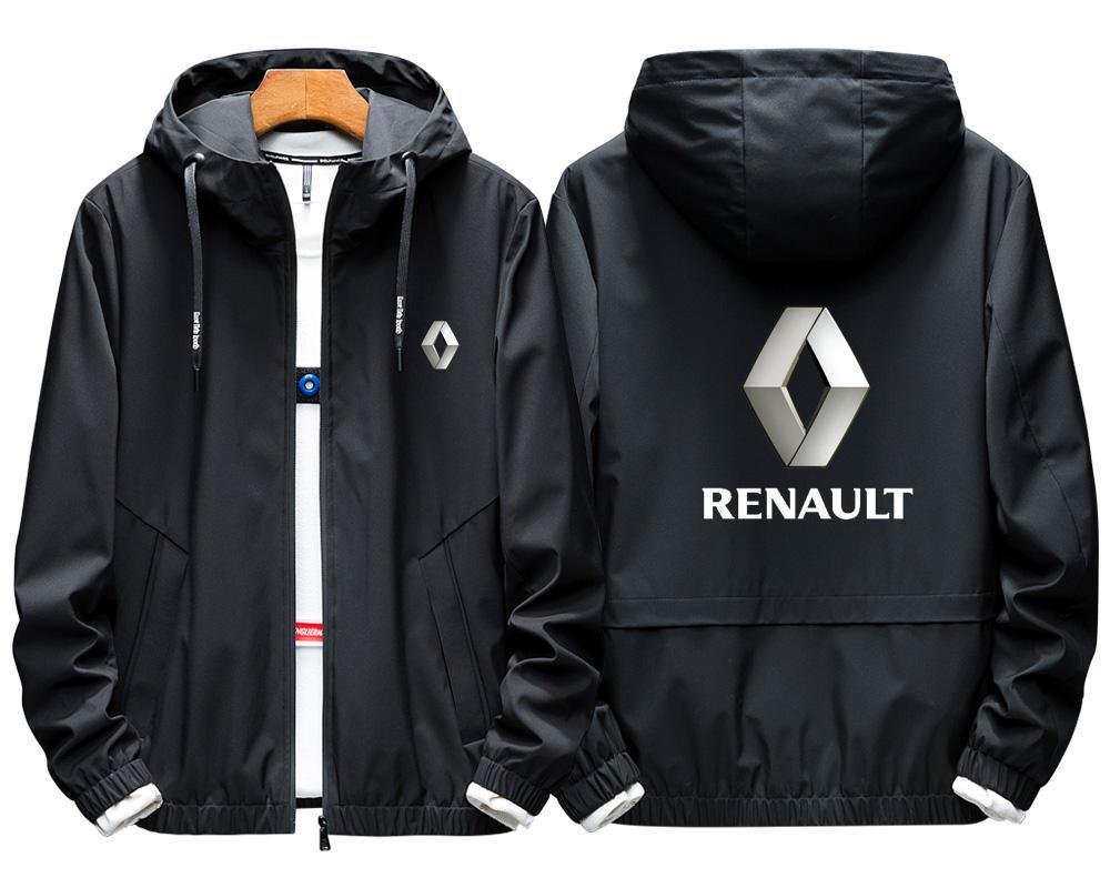 2020 RENAULT LOGO For Mens Luxury Jacket Motorcycle Hooded Zip Casual Style Male EU Size Coats Biker Windbreaker Direct Shipping