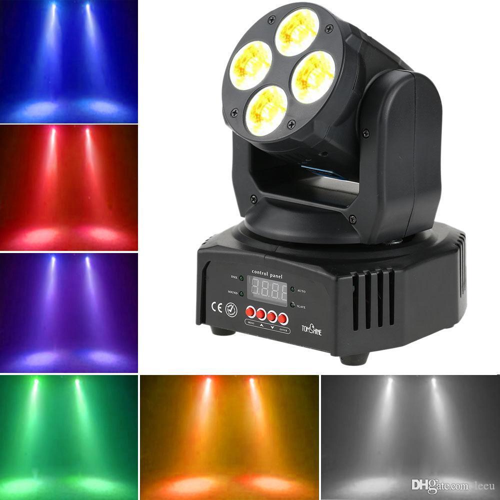 헤드 무대 조명 파티 프로젝터를 이동 DMX512 마스터 - 슬레이브 디스코 조명 LED 무대 조명 DJ가 크리스마스 UV 6 IN1 세척 효과