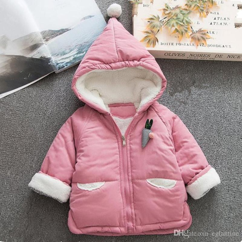 Recién nacido niña abrigo de invierno algodón bebé chaqueta con capucha bebé niña abrigo de invierno 9-24 meses prendas de lavado de bebé
