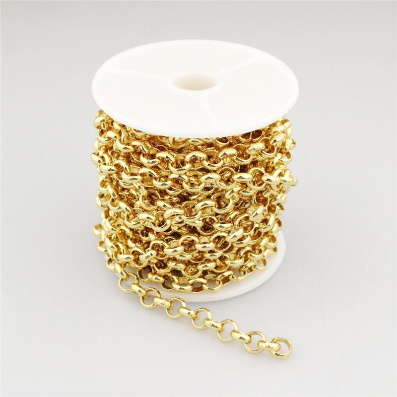 5 метров 1 ролл / лот мульти формы плакировка золотые четки цепи, горячие продажи с золотой проволокой спиральные четки цепи