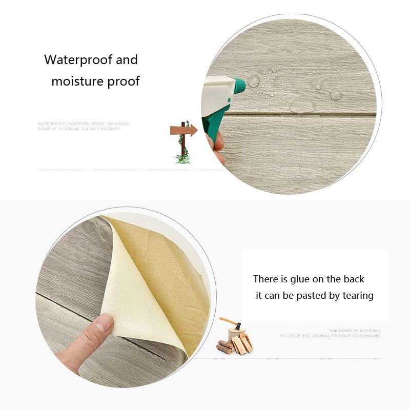 3D Wallpaper autoadesiva Woodr Grain Wall Sticker morbido Pacchetto Mura Kindergarten Decorazione impermeabile Sticker parete di schiuma