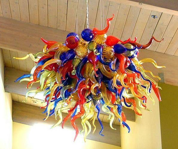 100 % 입 풍선 붕규산 무라노 유리 데일 치 훌리 (Dale Chihuly) 예술 무료 배송 주방 라이트 유리 샹들리에 램프