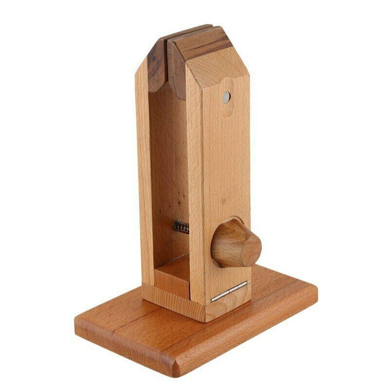 Mão de tratamento de ferramenta de madeira Leathercraft artesanato Diy tabela Desktop costura braçadeira de laço para fazer sacos
