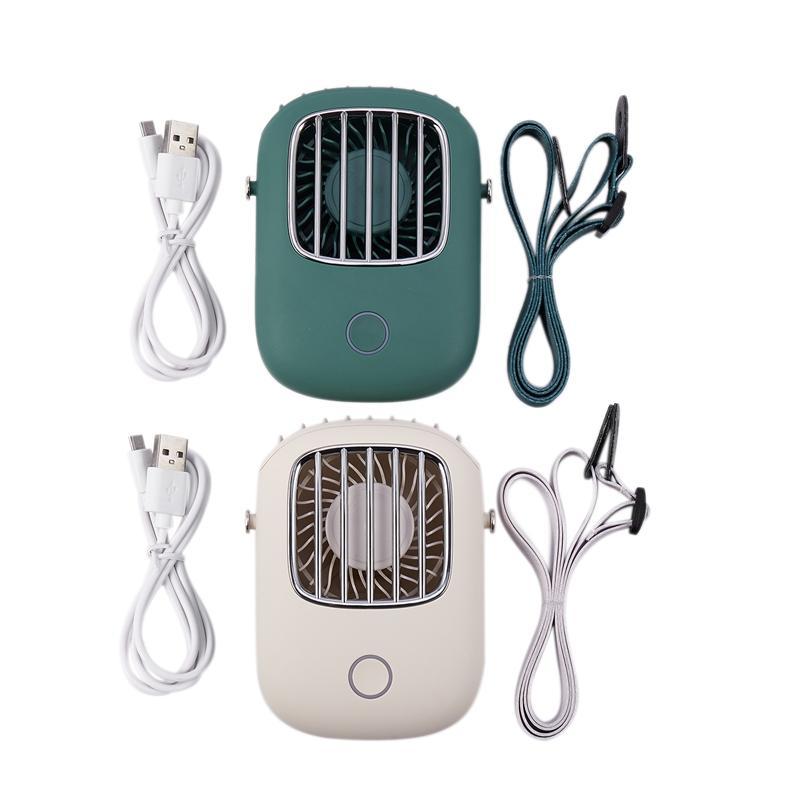 Gürültü Mini El Masaüstü Küçük Fan Doğa Sporları Ofisi Cooler Düşük Elektrik Fan Şarj Taşınabilir Tembel Asma Boyun Fan USB