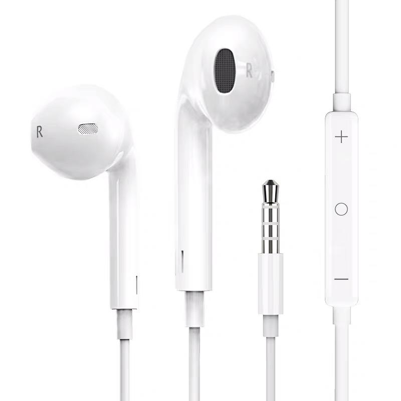 Simple earphone Android earphone in ear wired oppo subwoofer for iPhone Apple 6S millet vivo Huawei round hole earphone original genuine com