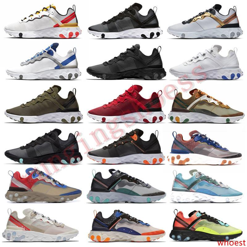 87 React Element 55 UNDERCOVER Women Men Running Shoes Game Royal Blue Red Olive Camo Volt Racer Pink Epic Trainers Sneakers