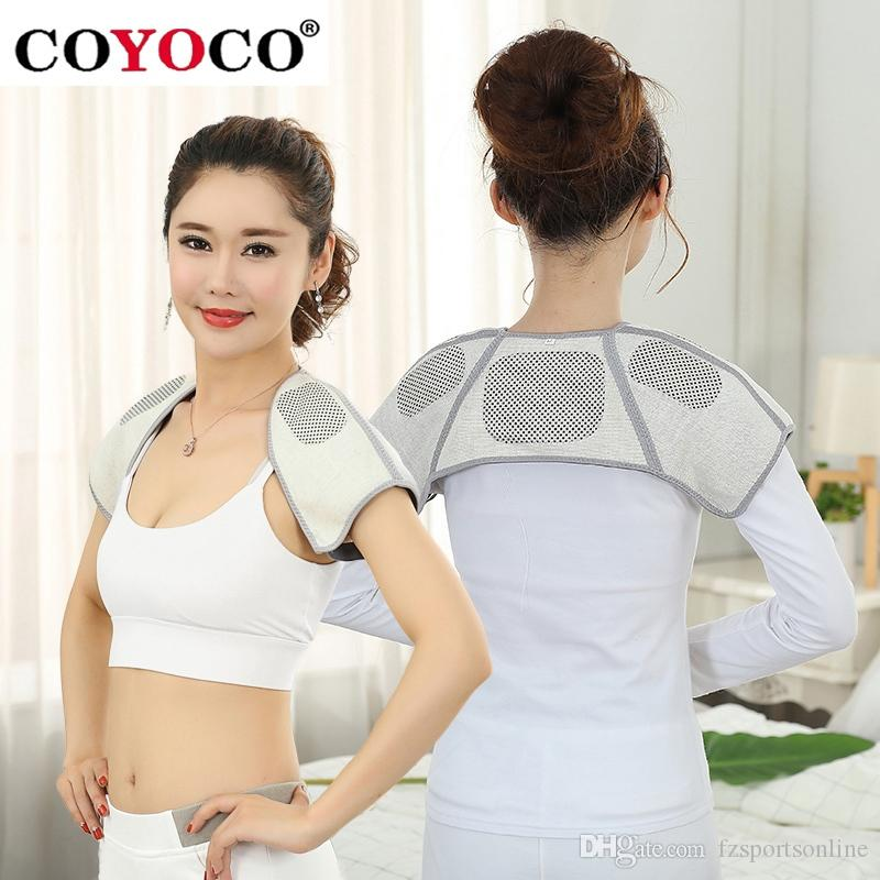 COYOCO Brand Self-heating Belt Back Support Shoulder Guard Bamboo Charcoal Brace Gym Sport Injury Back Pad Belts Keep Warm #17922