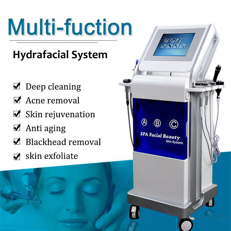 9in1 Hydrofacial MD Machine Hydro Dermabrasion Piel Limpieza Cara Rejuvenecimiento Microdermabrasión Equipo Hydrafacial Blackheads en venta