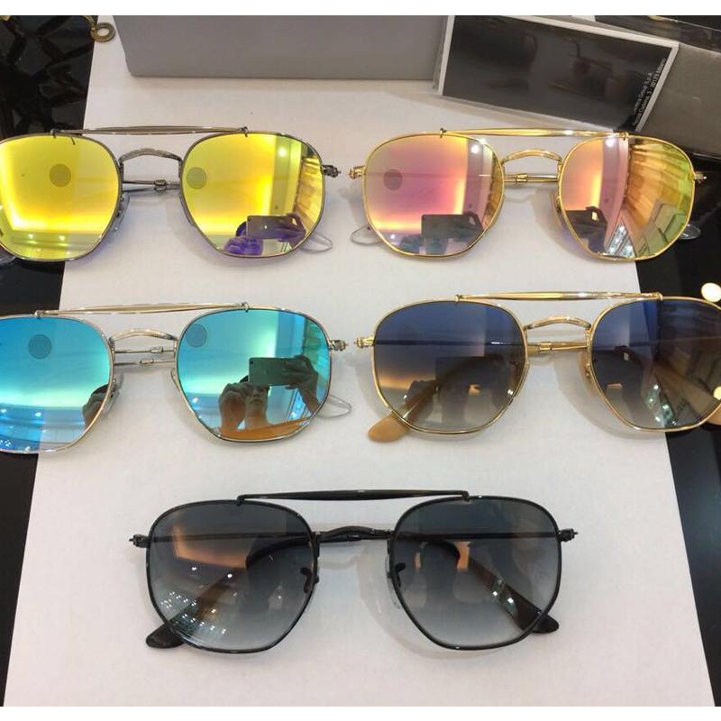 Luxury-3648 designer Men's Sunglasses Top quality glass lense general model sun glasses shades men women UV400 glasses 51mm Gafas de sol
