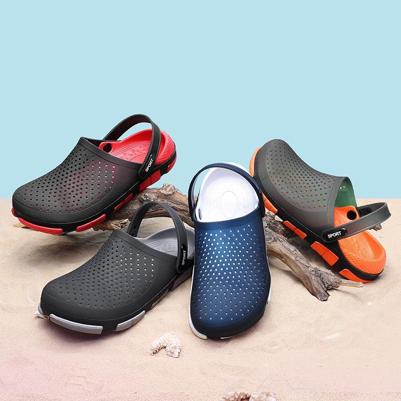 Original Girar clásico zuecos jardín los fracasos de los zapatos del agua playa de los hombres de verano aqua zapatos Zapatilla Piscina al aire libre sandalias gráficas