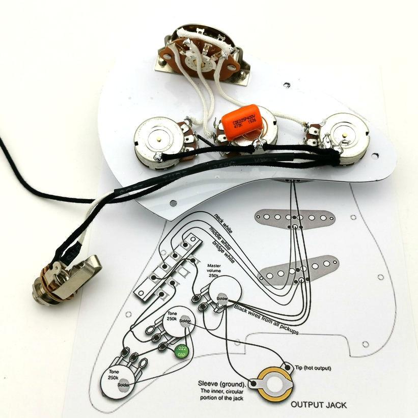 potenziometro della chitarra Pickup cablaggio in rame 250K albero adatto per la chitarra della st