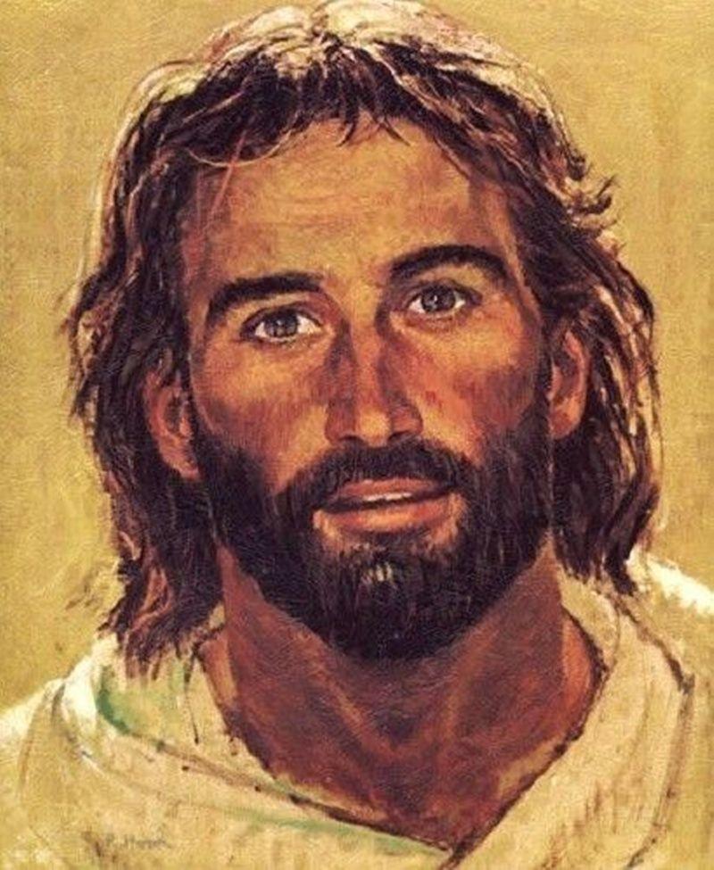 Richard Hook Art Pintura cabeça de Cristo Jesus Retrato de sorriso Home Decor pintado à mão HD impressão pintura a óleo sobre tela Wall Art 200706