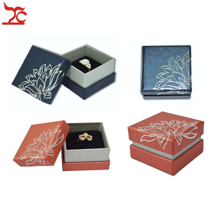 Wholesale Elegant Jewelry Gift Box for Ring Packaging Organizer Paper Boxes Ring Earrings Storage Free Shipping 5*5*3.5(CM)