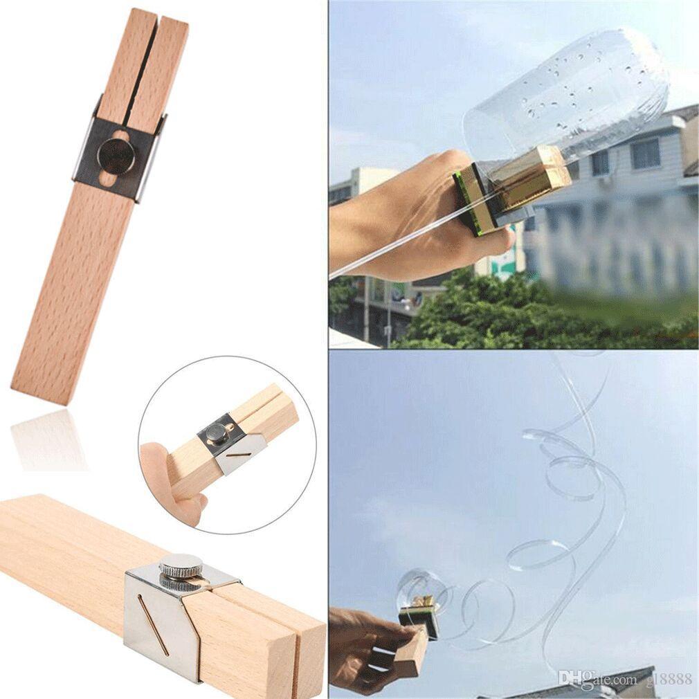 Bouteille portable à puce en plastique Cutter Outils de corde de bouteilles en plastique Cutter couteau extérieur bouteille bricolage Craft orin Artisanats outil