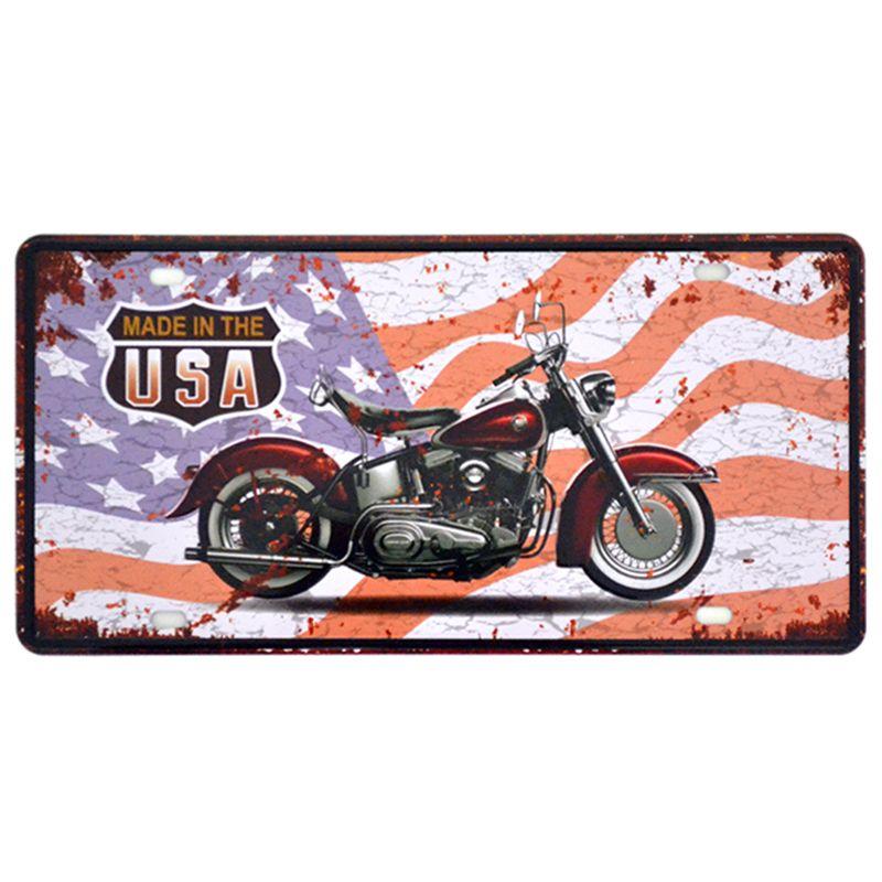 Hot motocicleta Car metal matrícula Vintage Home Decor Tin Sign Bar Pub Garagem metal decorativa sinal do metal Pintura Plaque