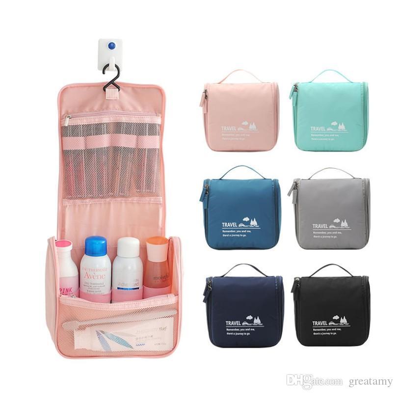 هوك غسل حقيبة معلقة حقيبة مستحضرات التجميل للماء قدرة كبيرة السفر باليد تلقي حقائب الموضة سفر totos