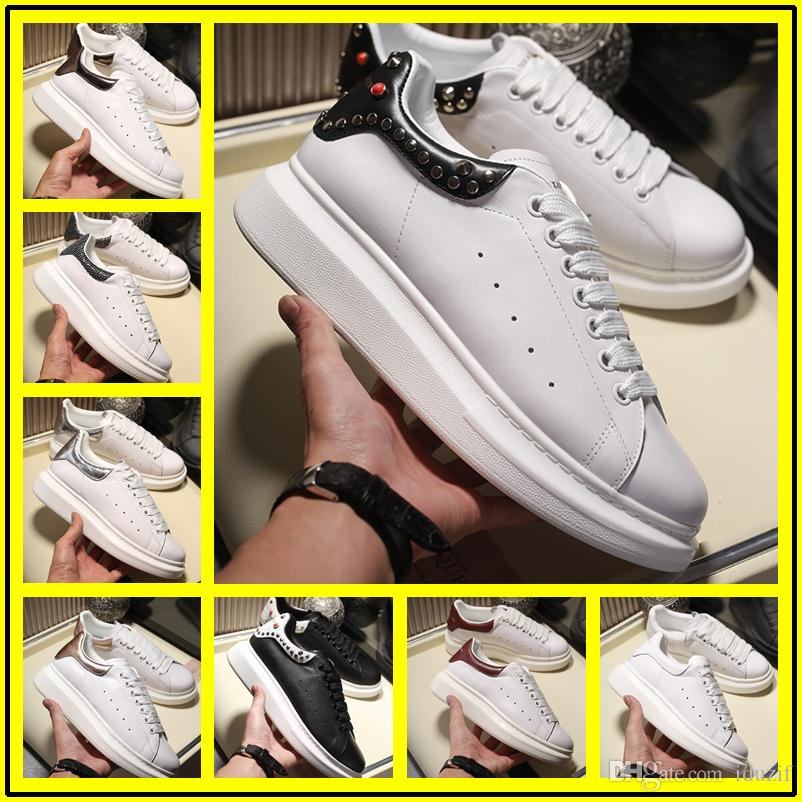 2019 With box Lace Up Designer Comfort Pretty Girl sole sneakers White Black Women Mens Extremely Durable Stability leather Casual Shoes