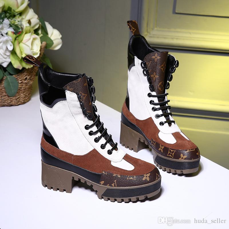Casual zapatos de las mujeres nueva llegada Laureate zapatos de plataforma Desert Boot mujeres de la manera Brands Scarpe da donna cargadores de las mujeres de peso ligero con cordones