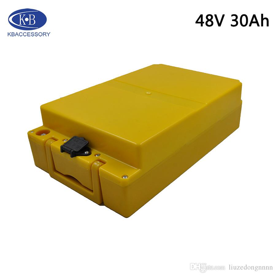 48V 30Ah Lithium-Batterie Verwenden japanischer Ursprung 18650 30B Batterie elektrische Fahrrad-Batterie 13 Serie 48V + 2A Ladegerät Freies Verschiffen