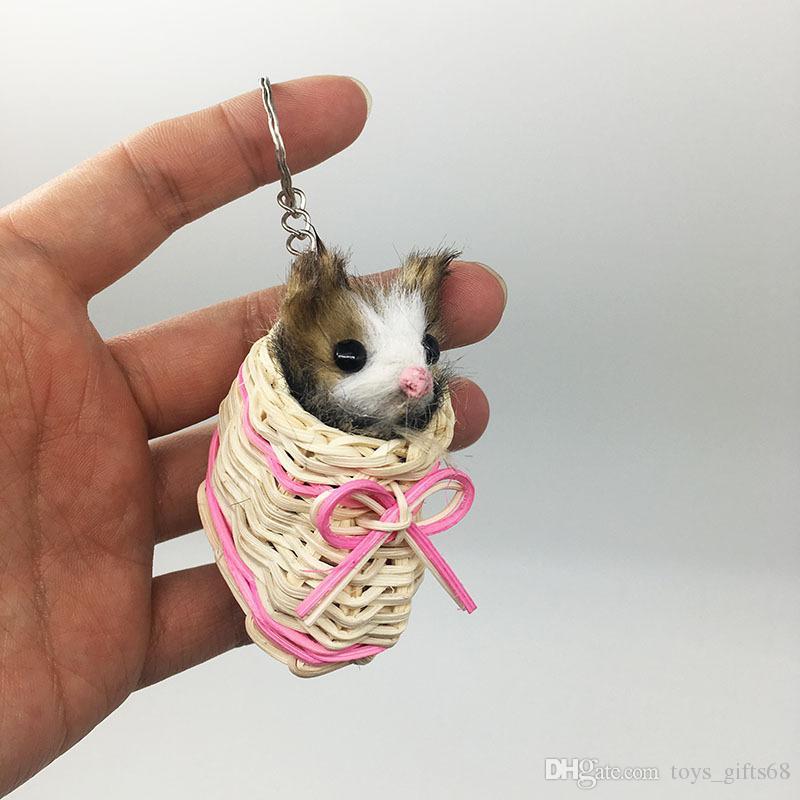 auto gattino di peluche ciondolo portachiavi ciondolo Simulazione animale ornamenti vacanza regalo Gatto peluche accessori zaino