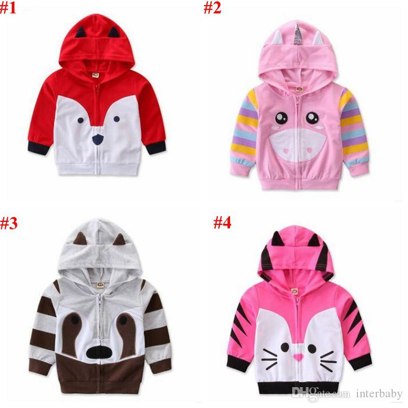 Toddler Baby Girls Unicorn Hoodies Cartoon Sweater Outwear Sweatshirt Jacket for Baby Infant Kids 0-4Y