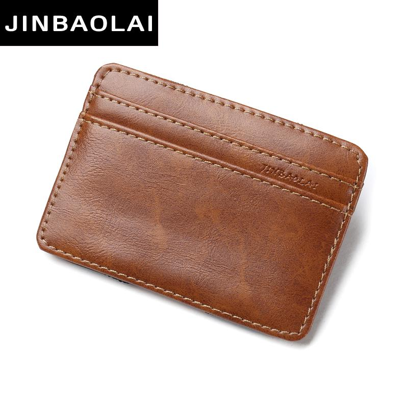 JINBAOLAI 2017 fashion Vintage Style High quality PU leather magic wallets mini multifunctional card holder magic wallets