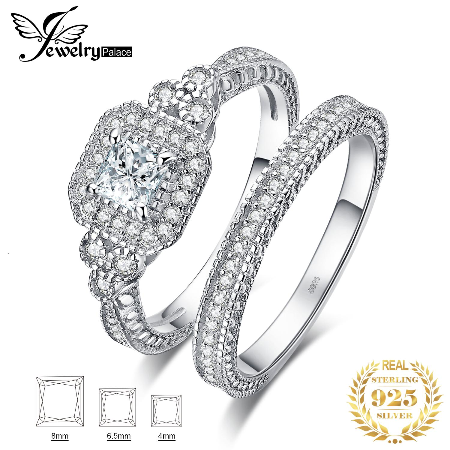 2020 Jpalace Princess Vintage Engagement Ring Set 925 Sterling Silver Rings For Women Wedding Rings Bridal Sets Silver 925 Jewelry V191212 From Ruiqi08 23 65 Dhgate Com