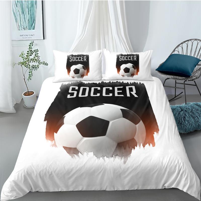 축구 침구 세트 킹 크리 에이 티브 소프트 유행 이불 커버 3D 여왕 트윈 전체 싱글 더블 독특한 디자인의 침대 세트 쿨