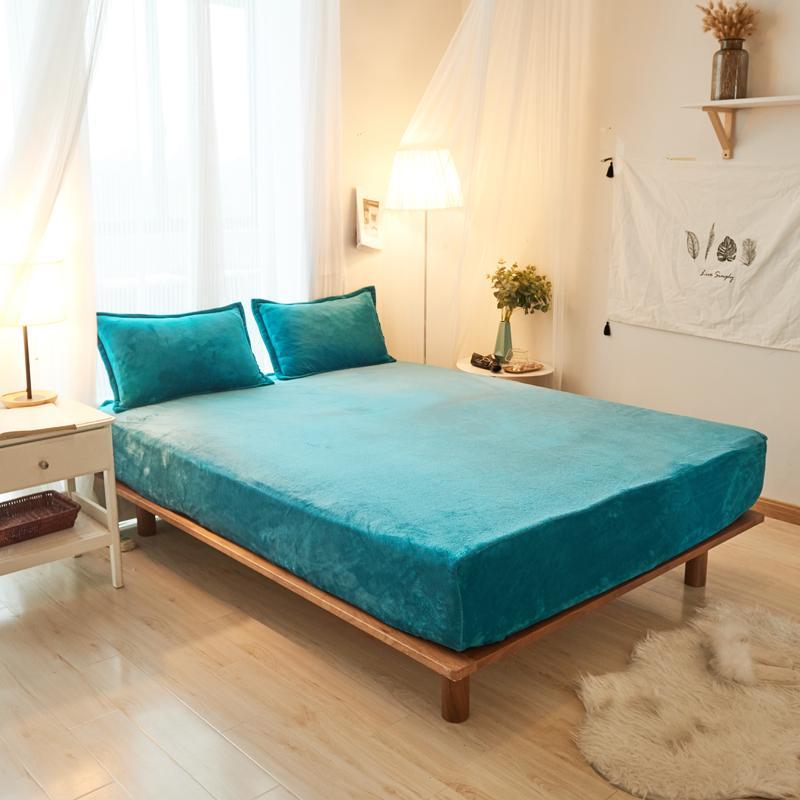 Dunkelgrüne Farbe Normallack 3 Stücke Bettlaken Mit Kissenbezug Bettwäsche Matratzenschoner Spannbetttuch Sets Mit Elastische Bettwäsche