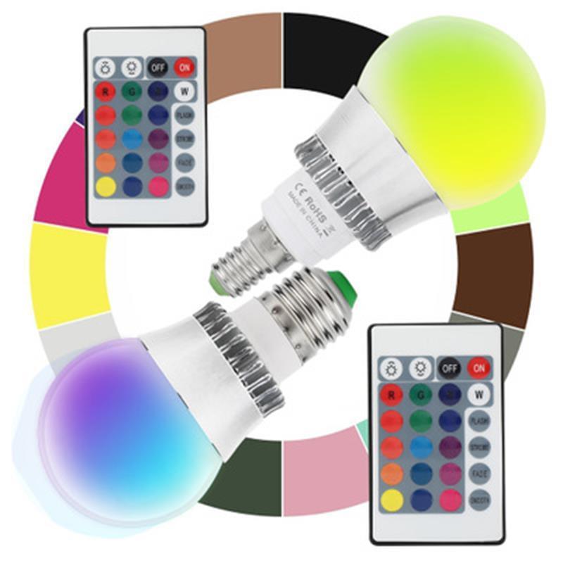 RGB lampada principale della lampadina 5 / 10W E14 / E27 interfaccia a infrarossi lampada telecomando efficiente risparmio fili / energetico