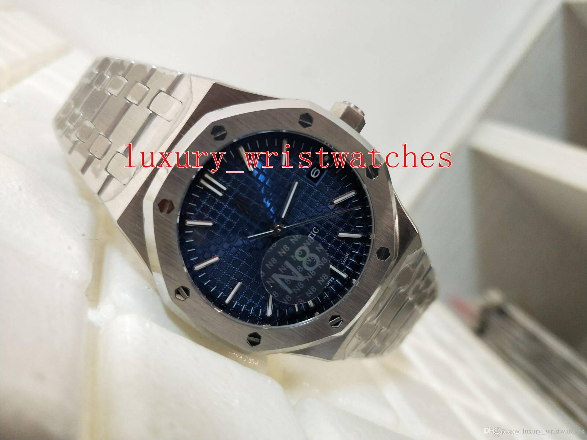 Good men Wristwatches N8 Factory Royal Oak Offshore 15450 15450ST 37mm Stainless 316L Transparent Automatic mechanical Mens Watch Watches