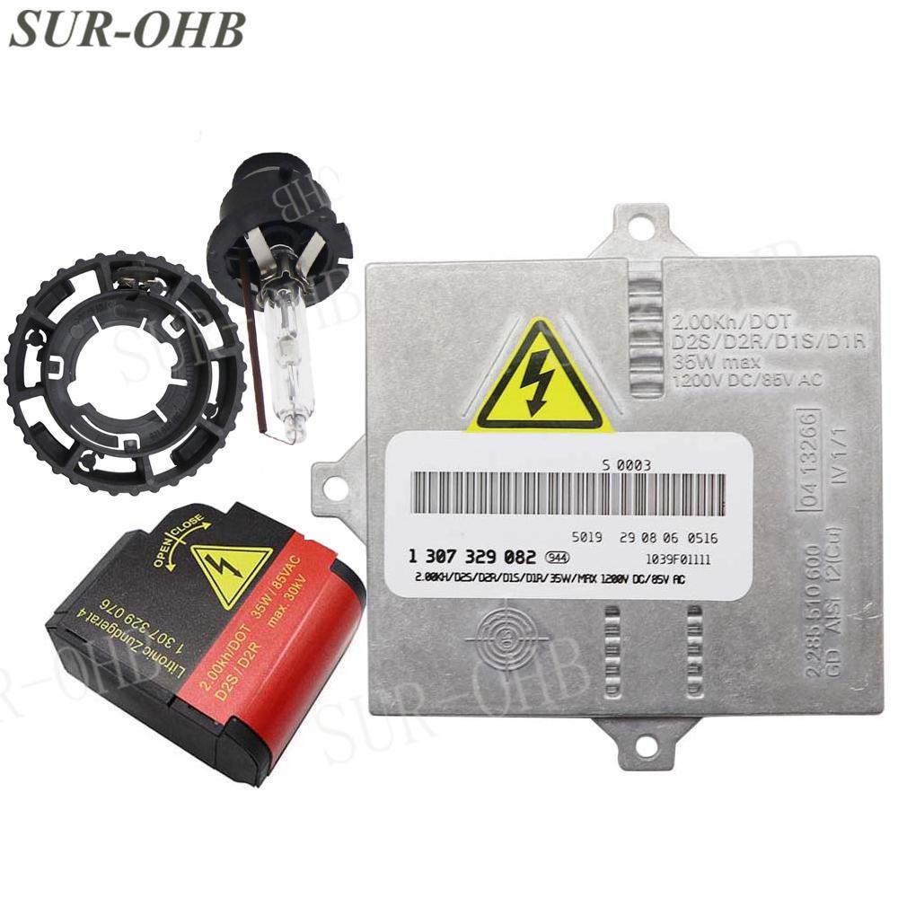 Xenon Ignitor Igniter New 1307329076 HID D2S E46 E63 Headlight 1300290120 Supporting Ring Bulb W220 A3 C30 X3 1300290120 Ballast 1307329082