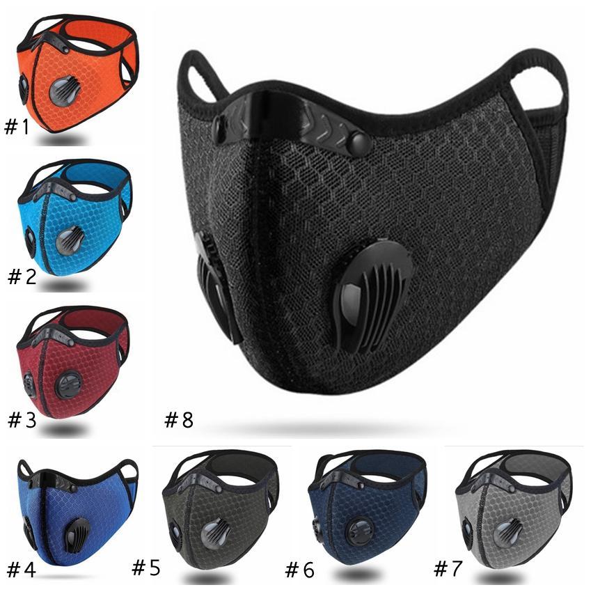 Y máscara en mascarillas de ciclismo reutilizable al aire libre máscara de cara al aire libre ajustable para la protección de hombres mujeres smog deporte respirador eEE1890 NNWFT