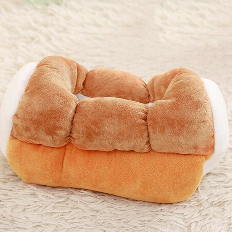 1Pc Simulation Toast Bread Tissue Box Plush Toys Home Car Fabric Tray Kitchen Storage Organization
