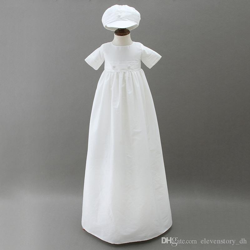 3 to 12 months baby Girls long Christening dresses, hat, summer cotton euro clothes, kids boutique white clothing, 2AM710DS-19