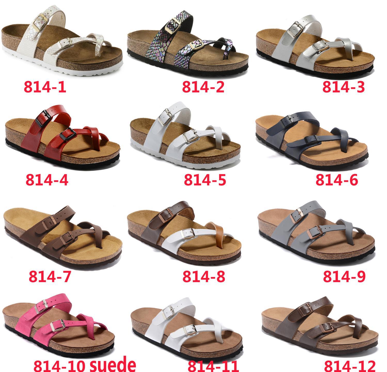 Mayarí 2019 nuevo estilo de playa del verano del corcho del deslizador Chanclas Sandalias mujeres hombres sport del color Diapositivas zapatos planos de envío gratuito 35-46