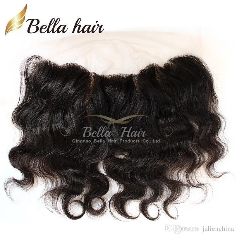 HD Lace Frontal Closure Brazilian Body wave 4*13 Ear to Ear Lace Frontal Human Hair Extensions Lace Closure Free Shipping Bella Hair