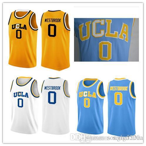 Russell Westbrook uomo UCLA Jersey, migliore qualità # 0 Russell Westbrook dimensioni UCLA Bruins blu cucita college basket Jersey S-XXXL