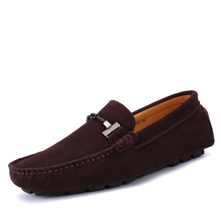 Mocassins pour hommes, mocassins de conduite respirants à semelle souple, chaussures en cuir, daim, chaussures de loisirs grand