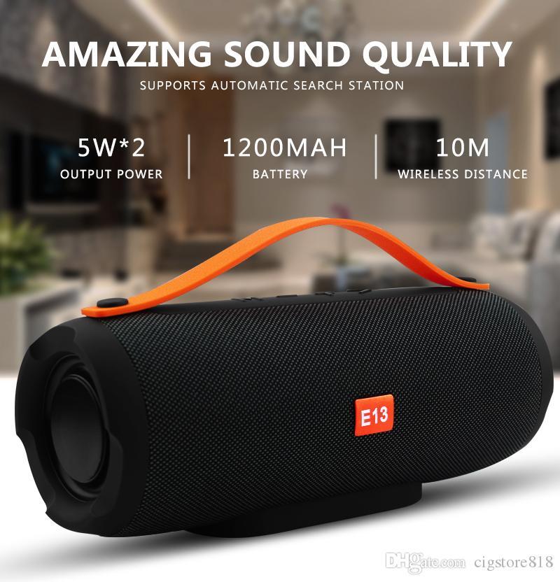 Hopestar E13 10W im Freien bewegliche Säule drahtlosen Bluetooth-Lautsprecher MP3 TF FM Radio Musik Stereo Subwoofer für PC Laptop Telefon