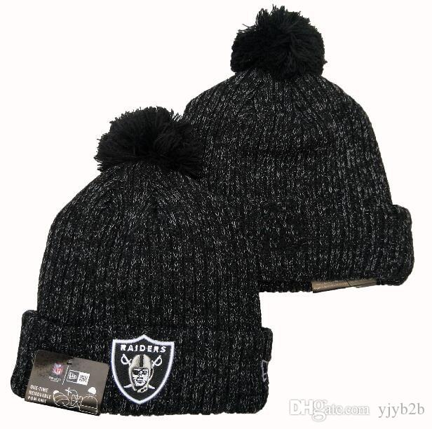 New Arrival Fashion Fan's Popular Beanies Winter Pom Casual Warm Skullies Beanie Hats Sport Team Baseball Raider Cuffed Knit Caps One Size