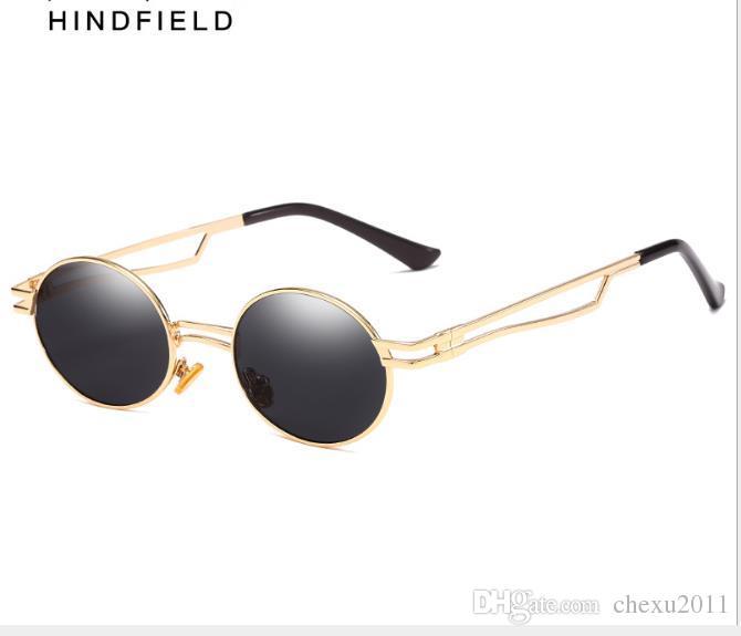 Yeni Avrupa-Amerikan Rüzgar Metal Gözlük kadın Dairesel Çerçeve Moda Güneş Gözlüğü Anti-ultraviyole Güneş Gözlüğü