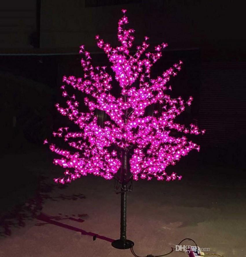 LED Cherry Blossom Tree Light 0.8м 1.2м 1.5м 1.8м Новый год Свадьба Luminaria Декоративные Ветви деревьев лампы Наружное освещение