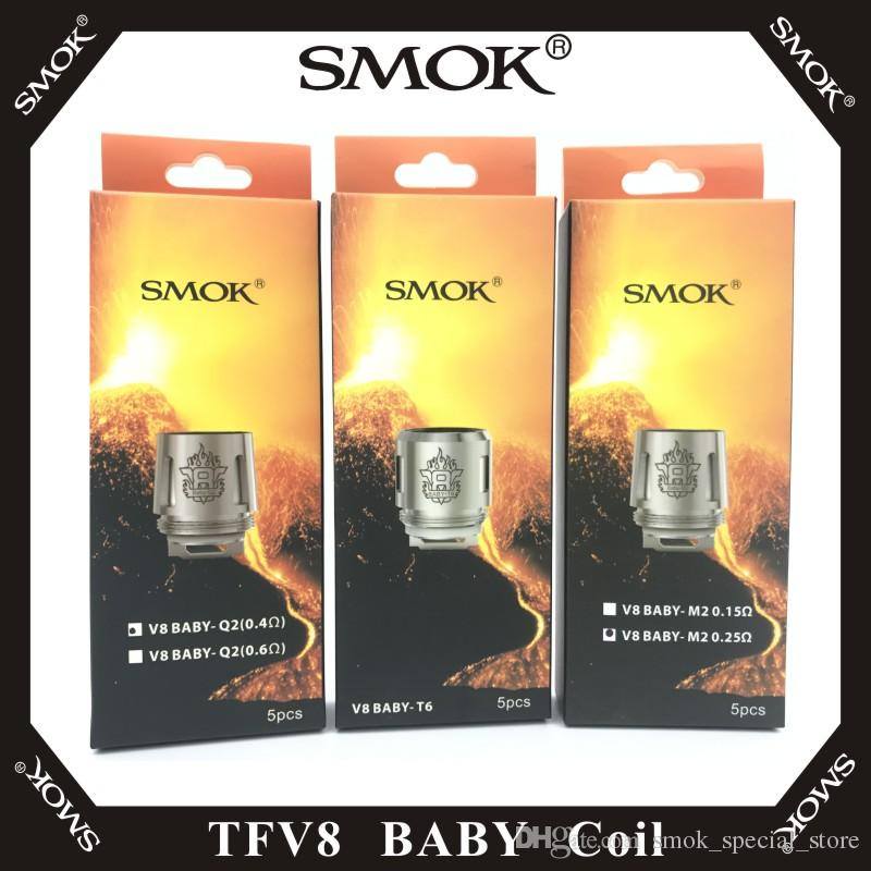 SMOK TFV8 BABY Beast Tank Coil Head AB Codes V8 Baby-T8 T6 X4 M2 Q2 Core Replacement 100% Original Smoktech Atomizer Coils