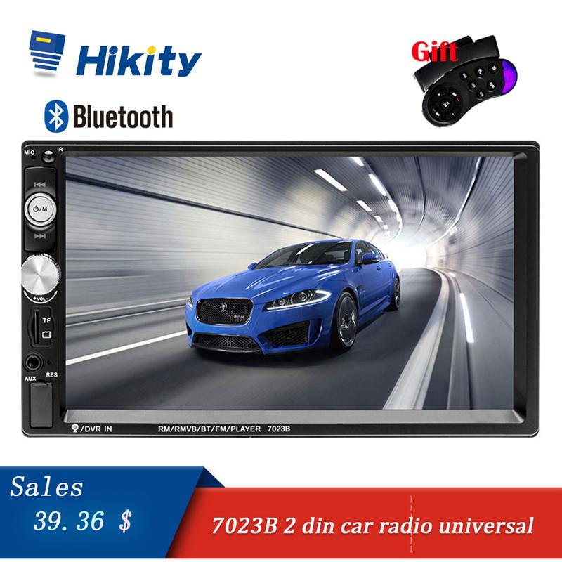Hikity 2 din Car Radio 7  HD Autoradio Multimedia Player 2DIN Touch Screen Auto audio Car Stereo Mp5 Bluetooth USB Tf Fm Camera