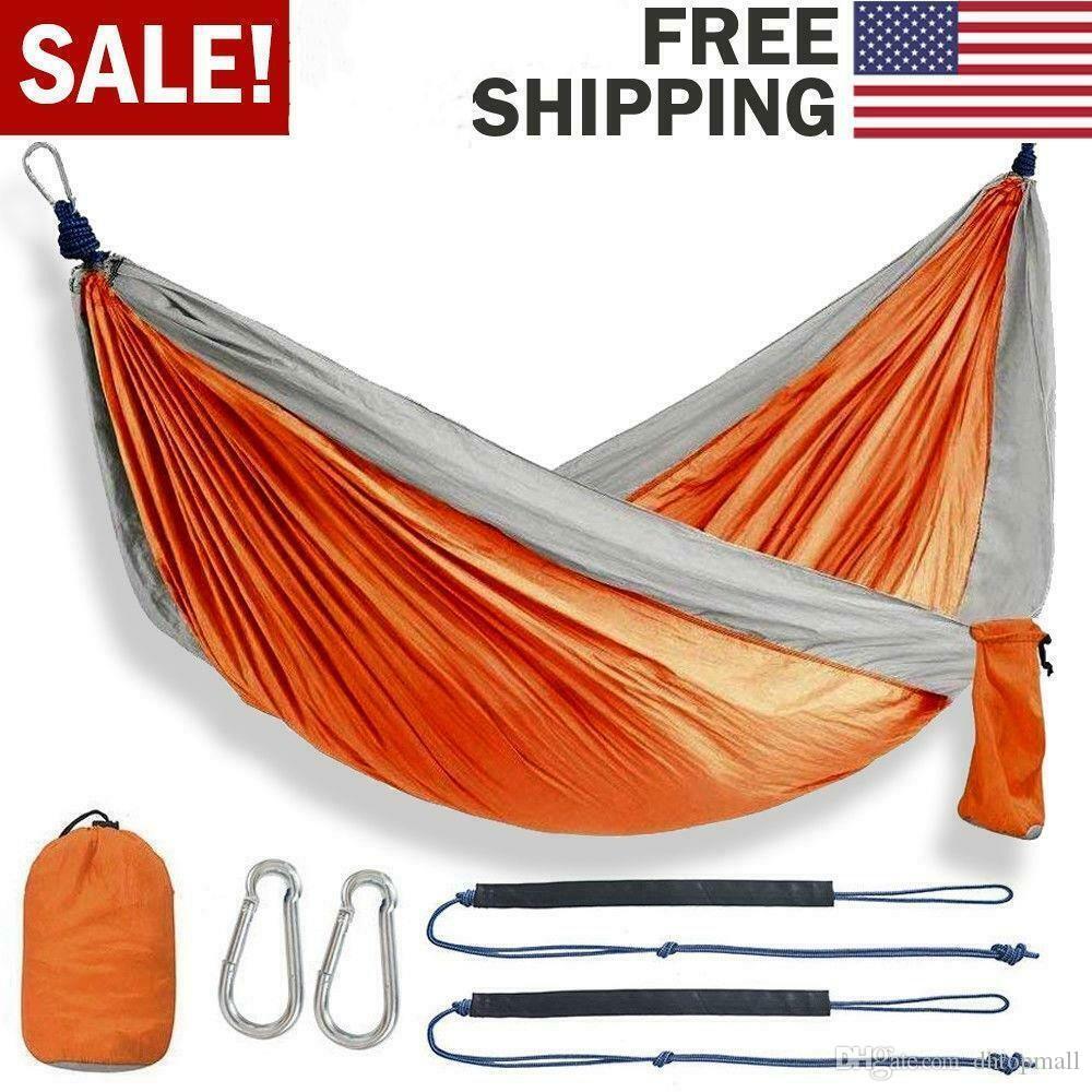 Portátil ao ar livre Mosquito Nets Hammock Leve Parachute Nylon Camping redes para Outdoor Caminhadas viagem Hot item