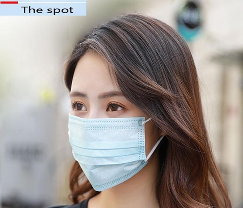 день Свободная перевозка груза DHL же Доставить Маски одноразовые лица слойный дышащий для блокировки маски пыли воздуха для предотвращения загрязнения