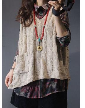 Rilascio di un nuovo prodotto nella primavera del 2019, gilet da cantiere di grandi dimensioni con maglione da donna in lana di alta qualità dal design originale